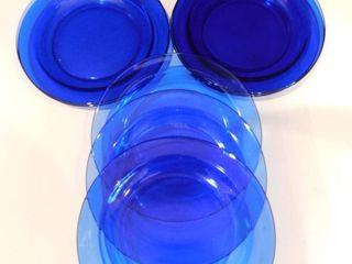 Cobalt Blue Dinner Plates  8 ea