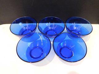 Cobalt Blue Bowls  5 ea
