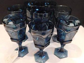 Cobalt Blue Goblets  8 ea