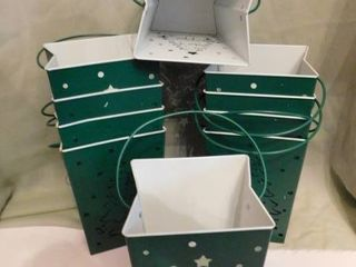 Christmas Curbside lantern Pots  10 ea