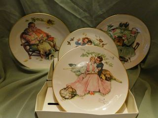 Norman Rockwell Plates  4 ea