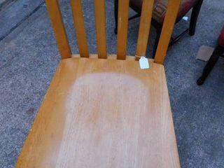 Oak Tall Chair