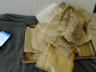 Vintage lot of linens