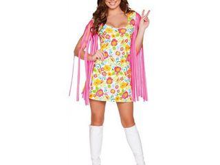 Roma Costume Women s 1 Piece Wild Woodstock Babe  Multi  Small Medium