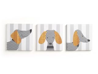 CoCalo Mix Match Canvas Wall Art  Doggies  3 Count