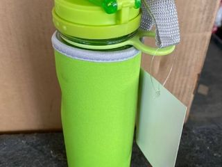 Infuser Water Bottle With Carry Sleeve   Green   Set of 2
