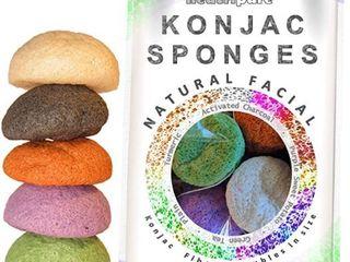 Konjac Facial Sponge 5 Piece