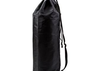 Nylon Sports Gymsack Bag  Perfect for Carrying Case for Clothes  Gym Equipment Set of 2 Black