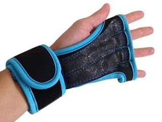 Hard Out Training Gloves light Blue and Black