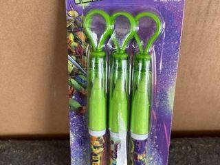 Teenage Mutant Ninja Turtle Pens pack of 3