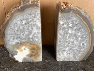Agate Bookends  Natural