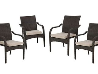San Pico Outdoor Wicker Chairs  4 stacking chairs