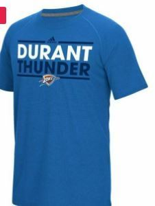 Nba Oklahoma City Thunder Kevin Durant 35 Men Short Sleeve Tee  large  Blue