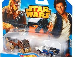 Disney  Hot Wheels Star Wars Chewbacca and Han Solo Character Car 2 Pack