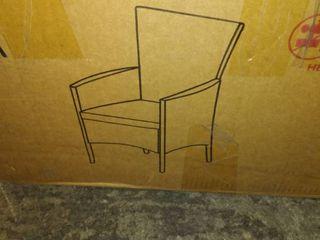 Black Wicker Outside Indoor Chair