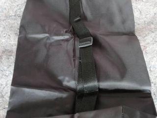 2 Black Nylon Sports Gymsack