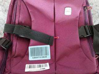 Purple Skymove backpack with wheels