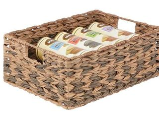Ombre Woven Pantry Basket 12x16x6 Brown Ombre