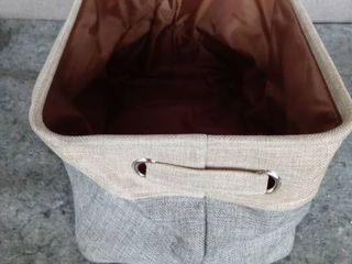 Brown and Blue Jean Storage Tote 10A14