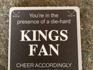 Tree free Greetings Nc38181 Kings Hockey Fan 4 pack Artful Coaster Set