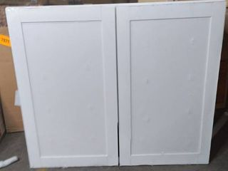 large White Cabinet 29 inch H 35 inch W