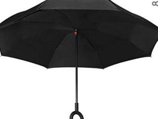 HOFAN Inverted Umbrella Outdoor Use Black
