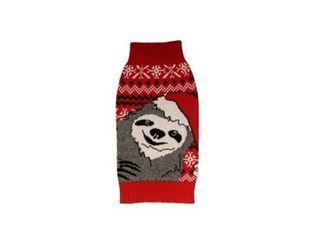Alex Stevens 100 Percent Cotton Intarsia Slothy Christmas Doggie Apparel Mock Turtleneck Sweater  M