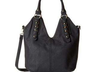 MG Collection Modern Shoulder Bag  Black  One Size