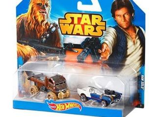 Hot Wheels Star Wars Chewbacca and Han Solo Character Car 2 Pack
