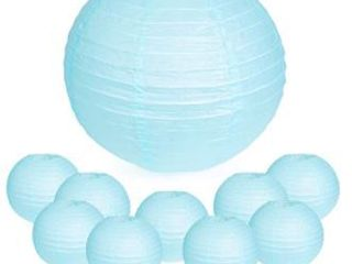Chinese lanterns  Pack of 12  Blue