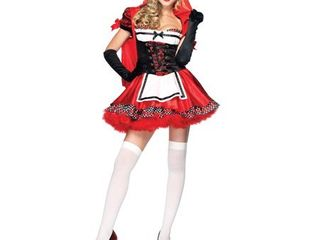 leg Avenue Women  S Divine Miss Dress With Padded Bra And Attached Hood  Multicoloured  large