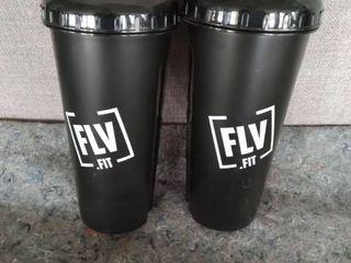 2 Flv Fit Shaker Bottles Black