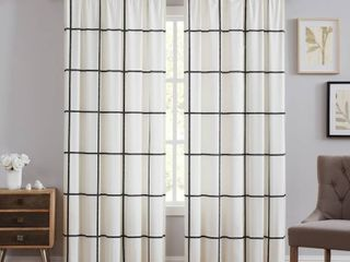 Truly Soft Kurt Windowpane Window Curtain  50 x84