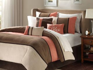 Home Essence Overland 7 Piece Faux Suede Comforter Set  KING