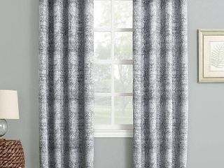 Darren 50  x 84  Distressed Textured Jacquard Blackout Curtain Panel