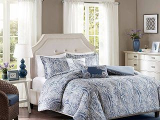 Harbor House Stella 5PC Paisley Print Full Queen Duvet Set Bedding