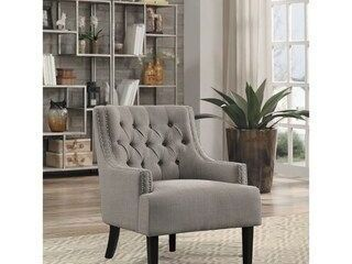 lorenzi Accent Chair  GREY