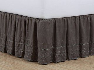 Fresh Ideas King Ruffles Eyelet Bed Skirt  1 Each
