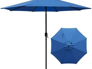 Maypex 9 foot Crank and Tilt Market Umbrella   Royal Blue