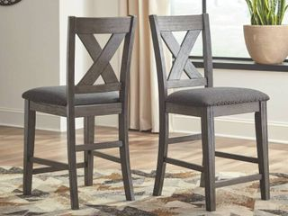 Caitbrook Upholstered Counter Height Bar Stool