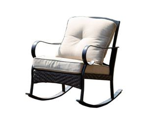 2 piece Outdoor Freestyle Iron Rocking Chair