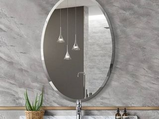 Mirror Trend Oval Frameless Beveled Wall Mirror DM010 2232 22 X 32