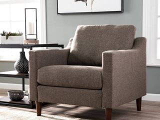 Davis Transitional Fabric Armchair   Brown