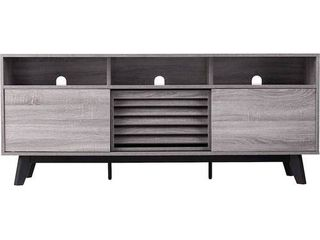 SEI   Contemporary Media Stand for Most TVs Up to 66    Gray Black