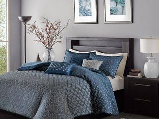 Home Essence Hudson 7 Piece Jacquard Comforter Bedding Set KING