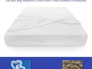ONETAN  Mattress or Box Spring Protector Covers  Bed Bug Proof Water Proof  Fits Sleep 6 9 Inch