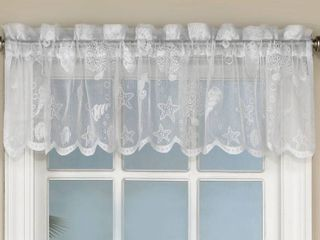 Reef seashells lace white valance