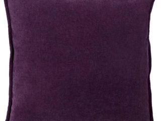 Harrell Solid Velvet 22 inch Feather Down or Poly Filled Pillow   Polyester   Plum