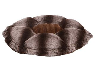 Bessie and Barnie Ultra Plush Godiva Brown  Frosted Glacier luxury Deluxe Dog   Pet Cuddle Pod Bed   30