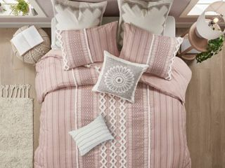 INK IVY Imani 3 Piece Full Queen Duvet Cover in Blush Queen